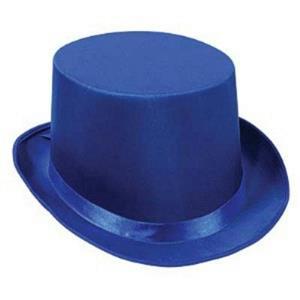 Blue Satin Sleek Tuxedo Top Hat