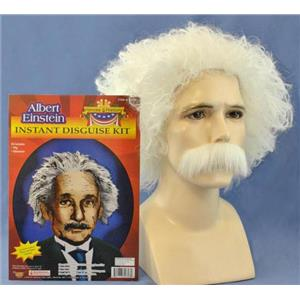 Einstein Mad Scientist Wig and Mustache Costume Kit