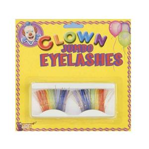 Jumbo Clown Rainbow Lashes Fake False Eyelashes