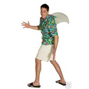 Adult Costume Shark Costume Fin Shirt Std Size