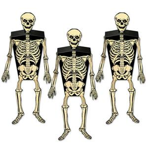 Skeleton Party Favor Boxes- 3 Count