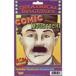 Comic Chaplin Self Adhesive Moustache