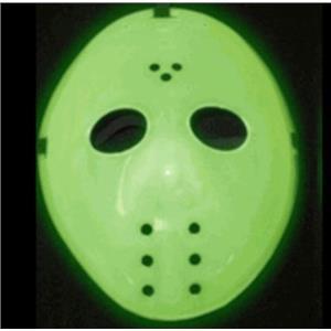 UV Glow in Dark Hockey Halloween Mask Jason Friday 13th