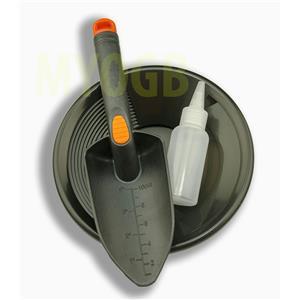 "Gold Panning Kit 8"" Black Pan - Bottle Snuffer & Scoop - Mining Prospecting"