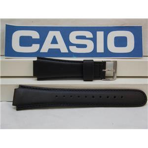 Casio Watch Band CPW-500 HL-1 Leather Black Strap for Prayer Compass Watch