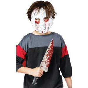 Slasher Hockey Mask and Knife Costume Accessory Set