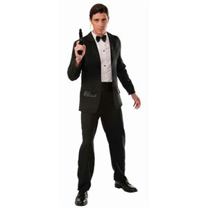 Secret Agent Spy Black Tuxedo Adult Costume