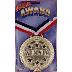 Jumbo Winner Medal Award Necklace Medallion
