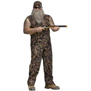 American Redneck Adult Plus Size Duck Hunter Jumpsuit Costume