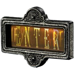 Lenticular 3D Enter If You Dare Sign Halloween Decor Prop