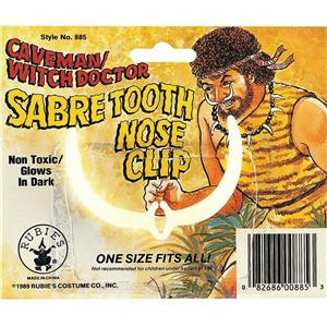 Sabre Tooth Caveman Prehistoric Native Wild Nose Clip