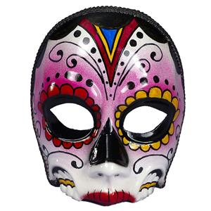 Women's Day Of The Dead Female Multi Colored Costume Mask