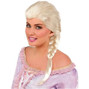 Platinum Blonde White Snow Princess Elsa Adult Wig