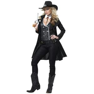 Round 'em Up Sexy Cowgirl Adult Costume Size Medium