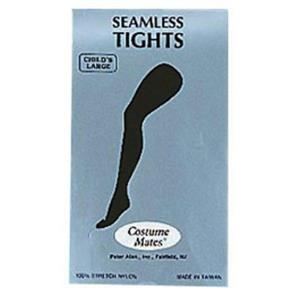 Black Seamless Tights Child Halloween Costume Accessory Size Large 10-14