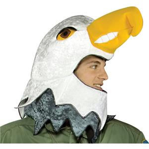 Falcon Hat American Eagle Mascot Adult Air Force