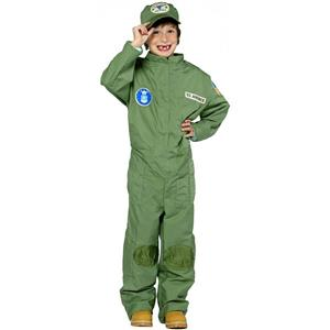Air Force Uniform Military Pilot Jumpsuit Costume Size Medium 7-10