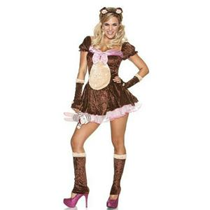 Women's Beary Cute Sexy Bear Adult Costume Size S/M