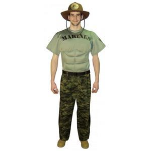 Marines Military Soldier Muscle Chest Adult Uniform Costume Large