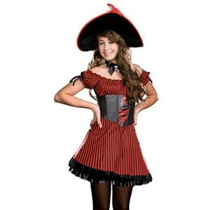 Junior's Captain Cutie Patooty Girls Costume Size XS