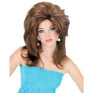 Brown Midwest Momma Big Texas Hair Wig