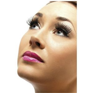 Black Fake False Eyelashes with Adhesive