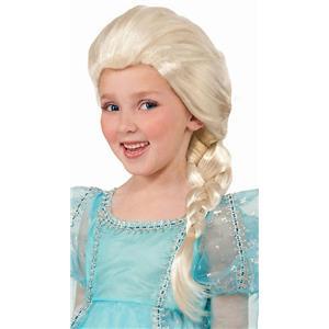 Platinum Blonde White Snow Princess Elsa Child Wig