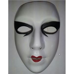Cesar Painted White Female Semi-Rigid Plastic Face Mask
