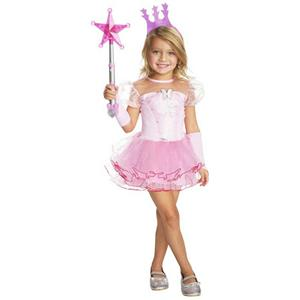 Wizard of Oz Girls Pink Tutu Glinda Good Witch Child Costume Size Medium 8-10