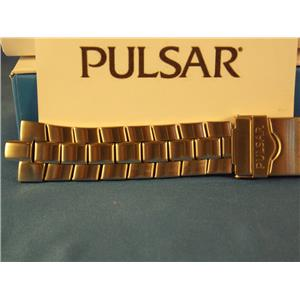 Pulsar Watch Band 013 Back # V072-0050 Black/Gold Tone Bracelet