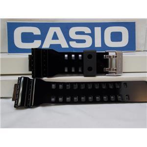 Casio Watch Band GA-100, GA-110, GA-120, GD-100 black Shiny Resin Strap/Watchband