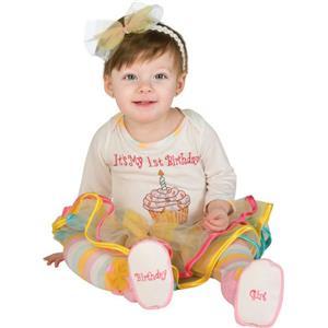 First Birthday Princess Tutu Jumper with Headband and Booties Newborn 0-6 months
