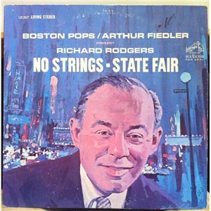 FIEDLER richard rodgers no & strings state fair LP VG LSC-2637 Living Stereo SD ...  Richard