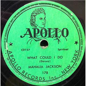Mahalia Jackson What Could I Do Even Me 10 Quot Vg Apollo
