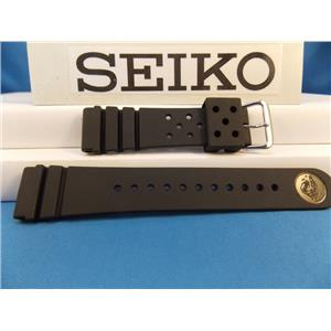 Seiko WatchBand SKX173 Divers 22mm Resin Strap. Diver watchband.Two-Piece Strap
