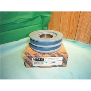 MASKA 2B48, DOUBLE BELT SHEAVE PULLEY FOR USE WITH QD (SDS) BUSHING