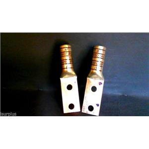 T&B  500 MCM Cable  Brown Die 87  925/24 Termination Lug  (lots of 2)