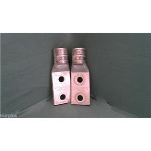 Burndy YA39-2LN Termination lug 24 Black die Connector for 750 kcm (lot of 2