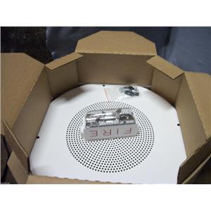"""NEW Cooper Wheelock 8"""" Ceiling Fire Strobe Speaker White S8-24MCCH-FW 150056"""