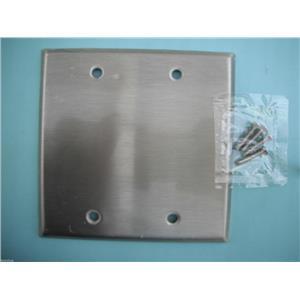 Standard Size Wallplates - #93152 Stainless Steel Blank-Box Mounted