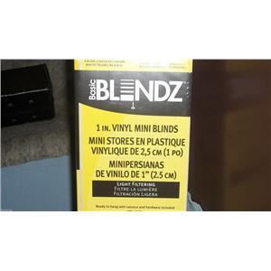 """BASIC BLINDZ 1 INCH WHITE VINYL MINI BLIND 22-1/2"""" WIDTH X 36"""" LENGTH NEW IN BOX"""