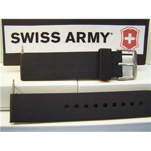 Swiss Army Watch Band Recon Black Rubber Strap 19mm Watchband