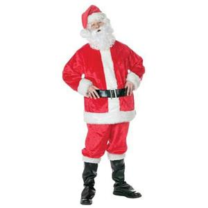 Adult Deluxe Santa Claus Suit With Wig and Beard Included