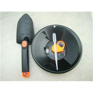 5 pc Kids Gold Panning Kit-Christmas Gift-Black Pan-Snuffer-Vial-Scoop-Magnifier
