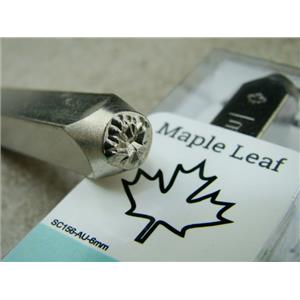 """Maple Leaf"" 1/4""-6mm-Large Stamp-Metal-Hardened Steel-Gold & Silver Bar Canada"