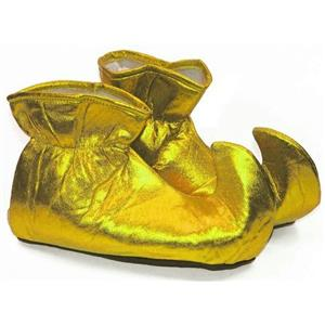 Gold Cloth Elf Shoes Christmas Costume Accessory