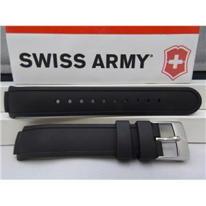 Swiss Army Watch Band Mans Base Camp Black Silicone Rubber Strap