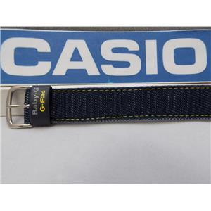Casio Watch Band BG-151 Denim Yellow Outline Stitched.One Piece 20mm Baby G File