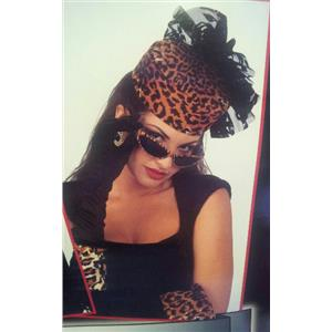 Jungle Hollywood Glamour Cheetah Leopard Accessory Kit Hat Gloves and Sunglasses