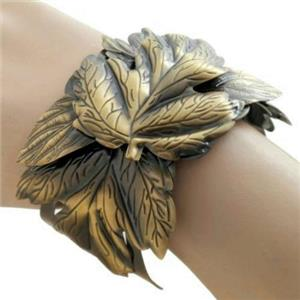 Grecian Cuff Bangle Faux Bronze Wrist Cuff Costume Bracelet